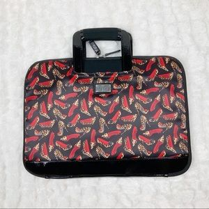 Nicole Miller leopard high heel laptop travel case